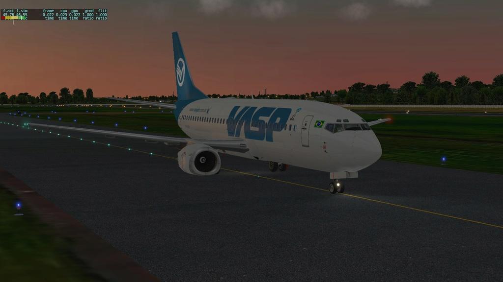 Corujão, LON-CTB-POA a bordo do IXEG 910