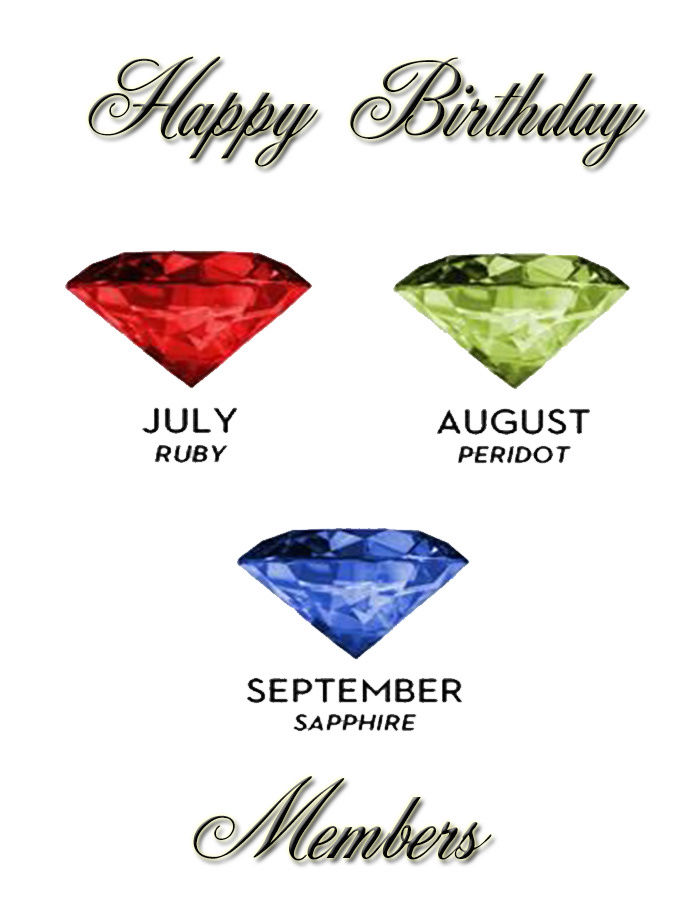 Happy Birthday: July, August and September members July-s10