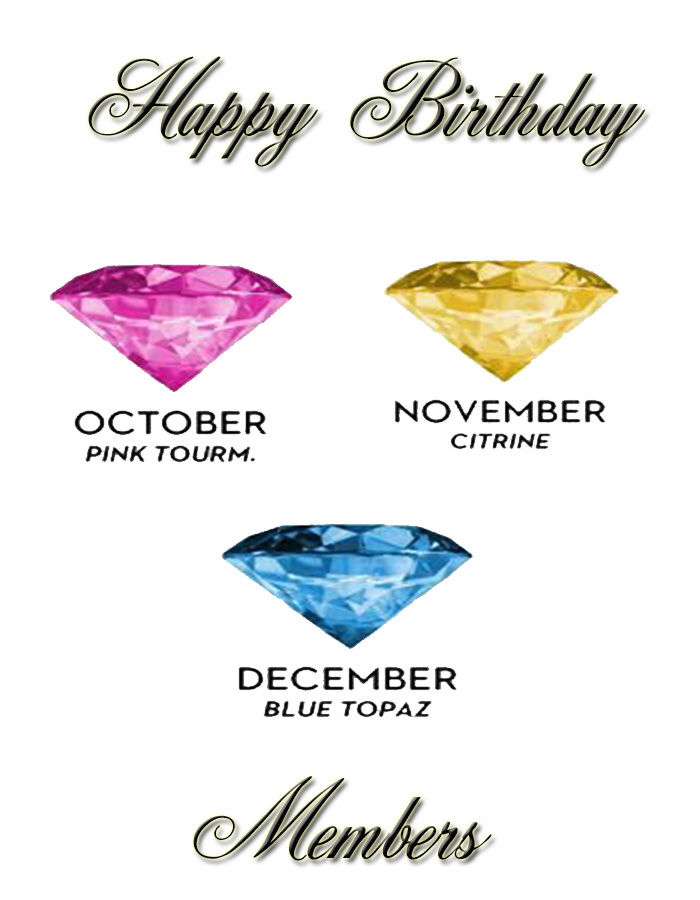Happy Birthday October, November & December members Oct-de10
