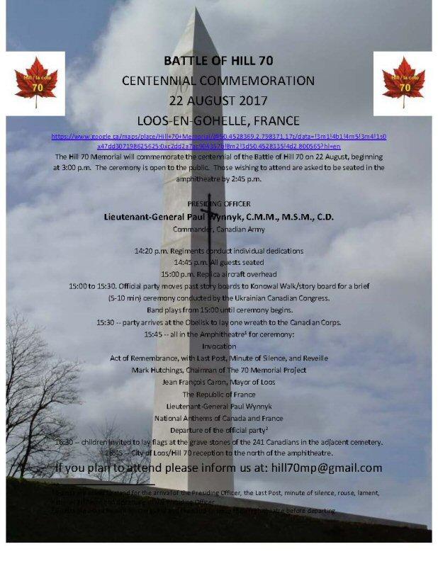 commemoration colline 70 loos en gohelle le 22 aout 2017 Ucc_in11