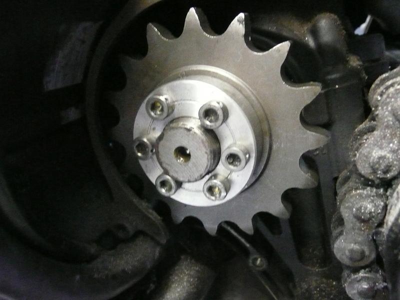 Réparation pignon sortie de boite Fazer P1220510