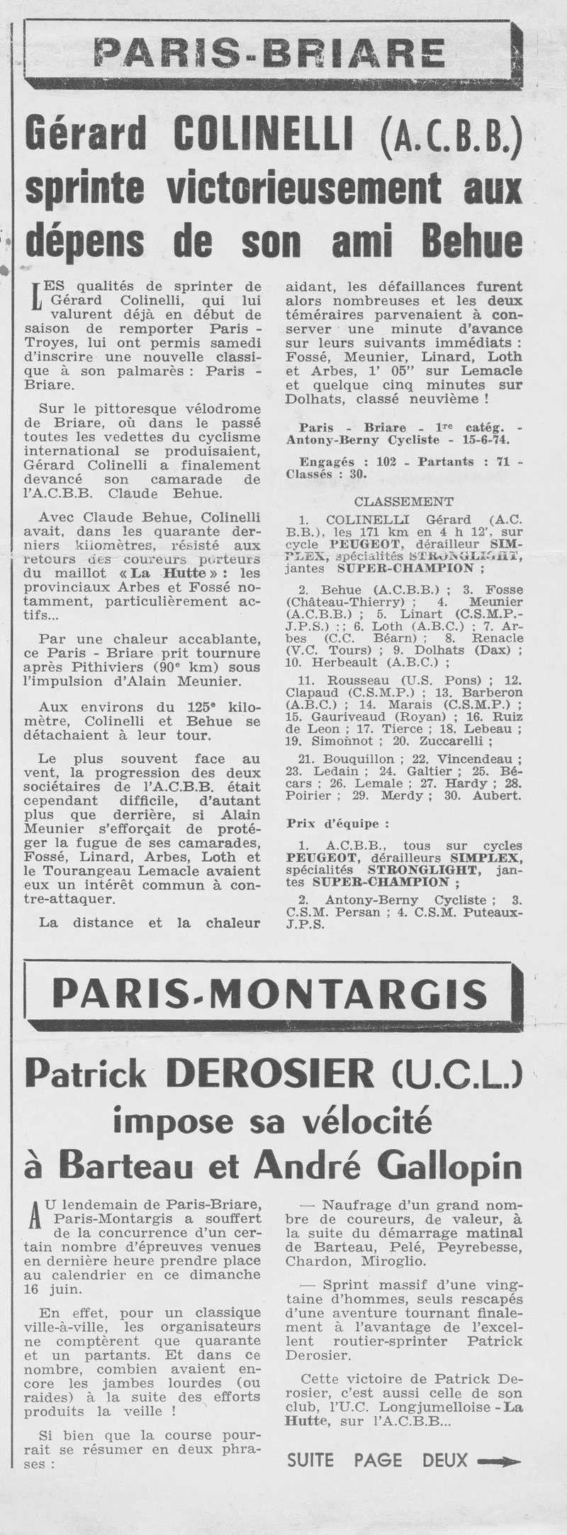 Coureurs et Clubs de juin 1974 à mars 1977 00323