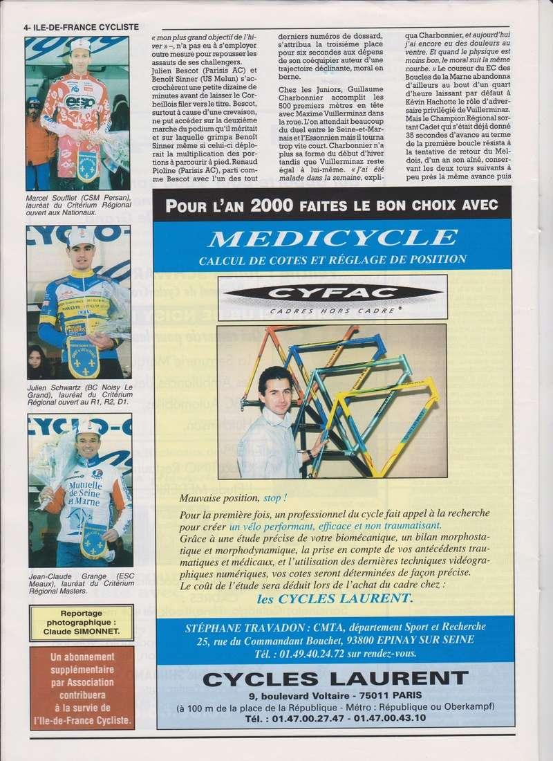 Coureurs et Clubs de janvier 2000 à juillet 2004 00436