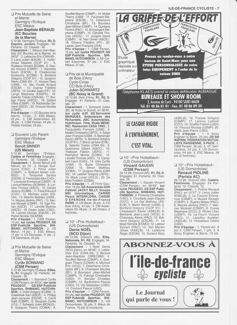 Coureurs et Clubs de janvier 2000 à juillet 2004 00736