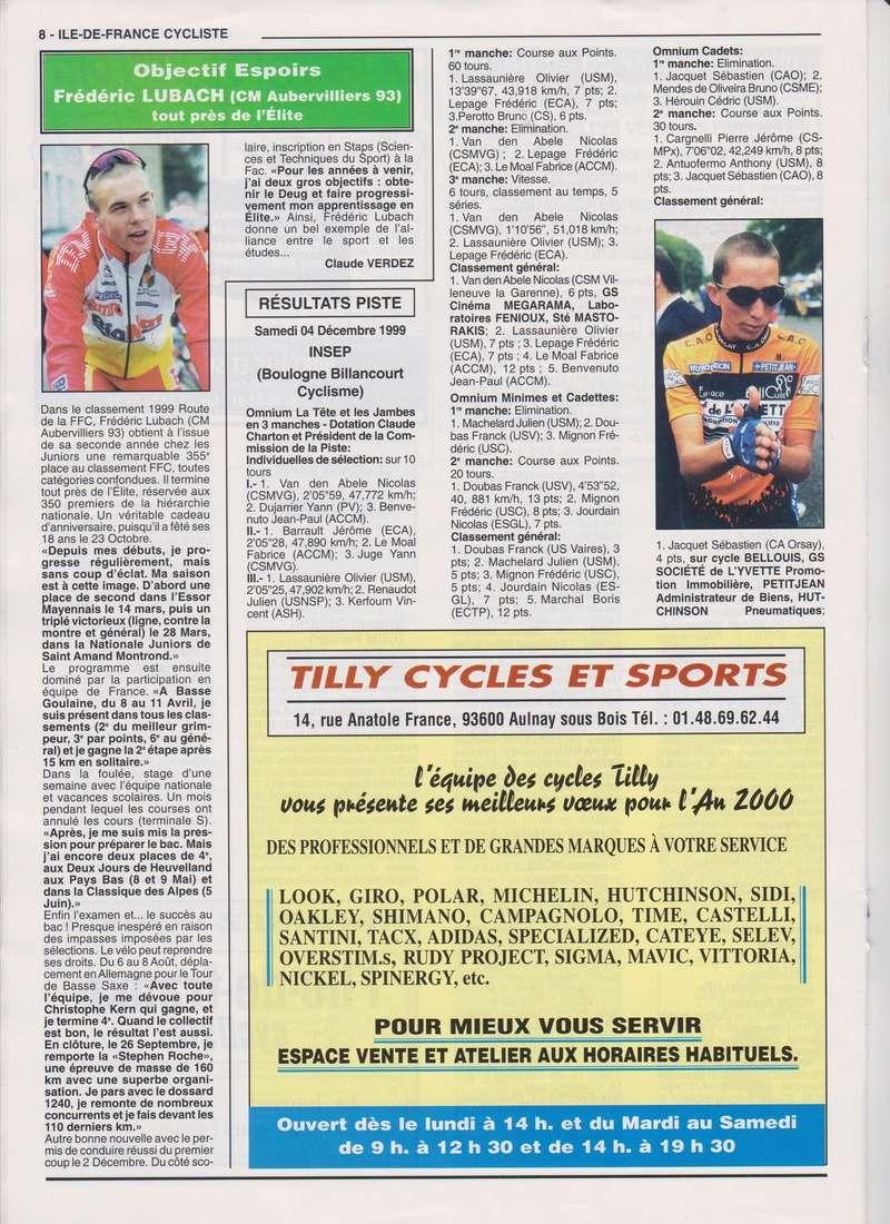 Coureurs et Clubs de janvier 2000 à juillet 2004 00837