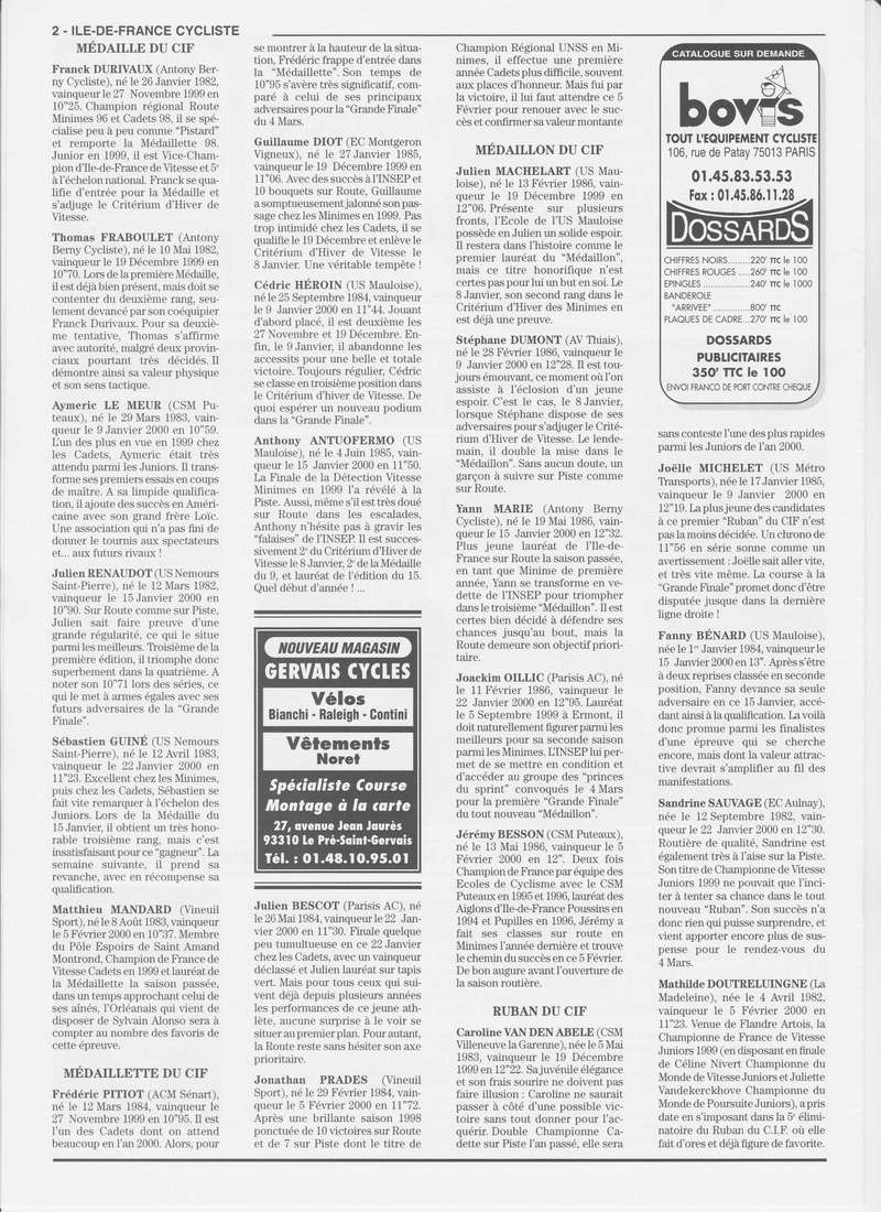 Coureurs et Clubs de janvier 2000 à juillet 2004 00_00211