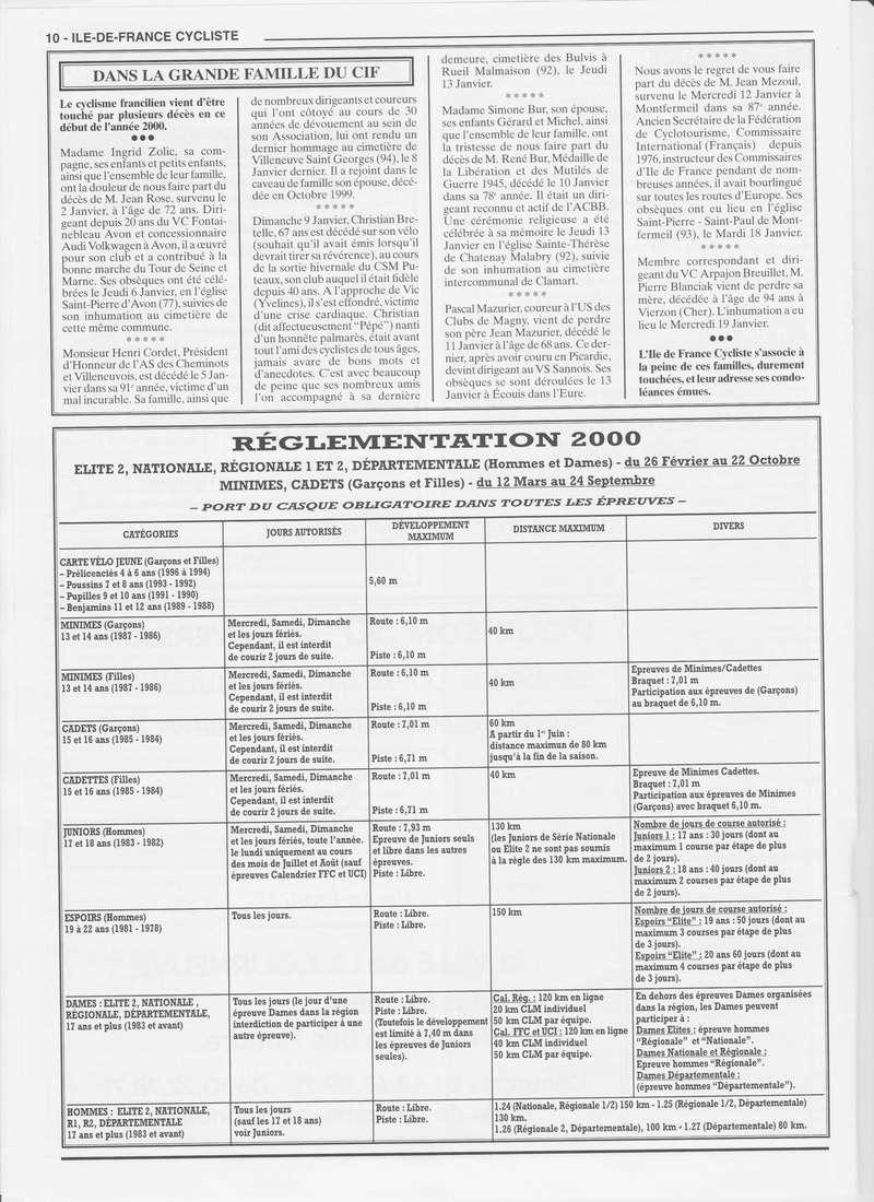 Coureurs et Clubs de janvier 2000 à juillet 2004 01036