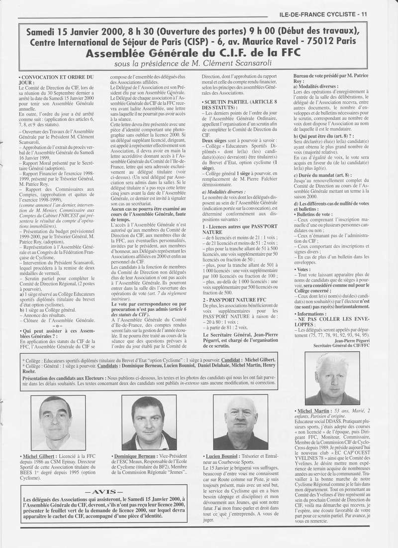 Coureurs et Clubs de janvier 2000 à juillet 2004 01131