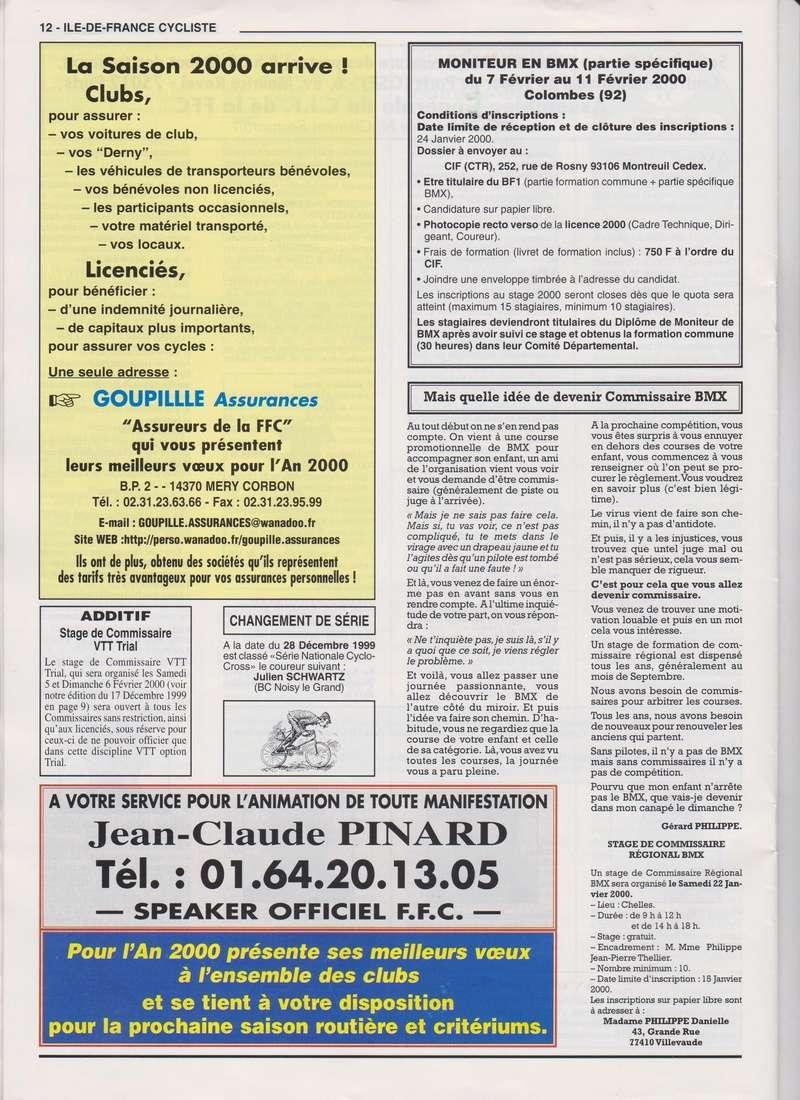 Coureurs et Clubs de janvier 2000 à juillet 2004 01234