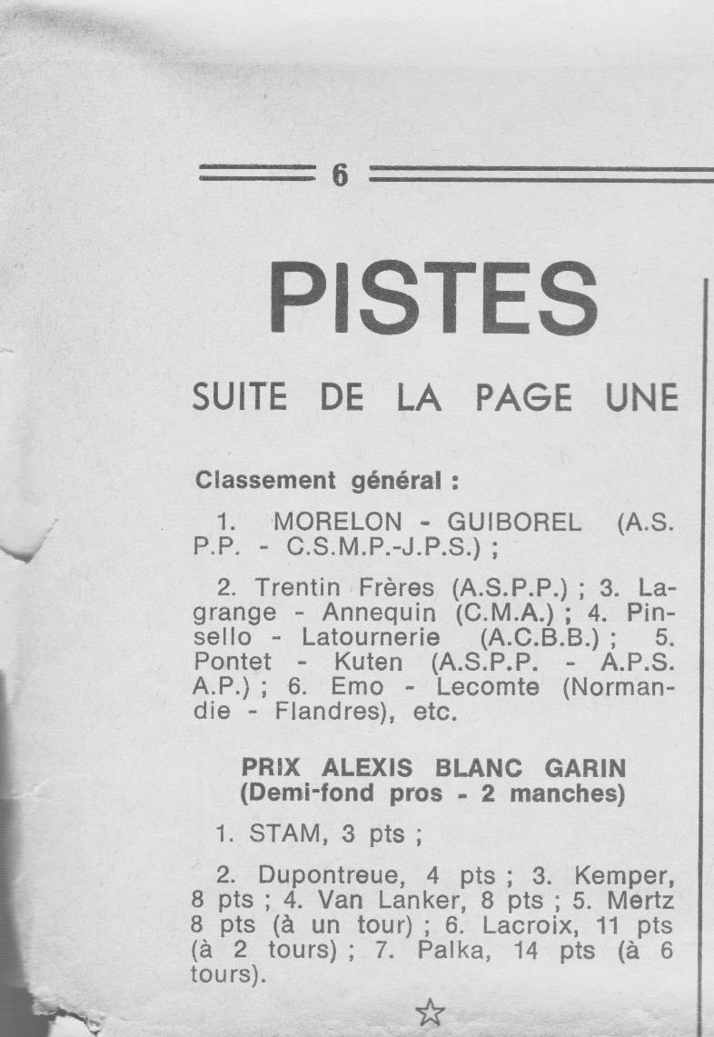 Coureurs et Clubs de juin 1974 à mars 1977 01520