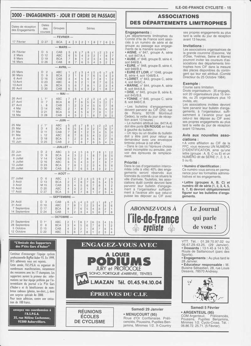 Coureurs et Clubs de janvier 2000 à juillet 2004 01533