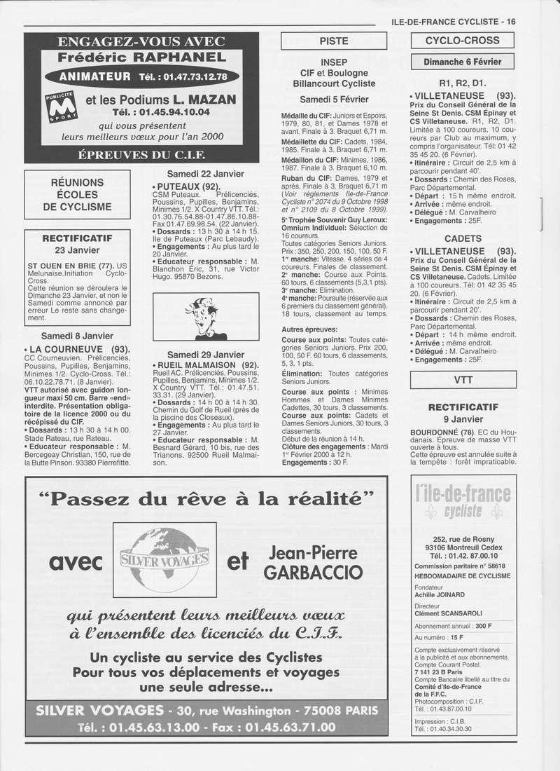 Coureurs et Clubs de janvier 2000 à juillet 2004 01632