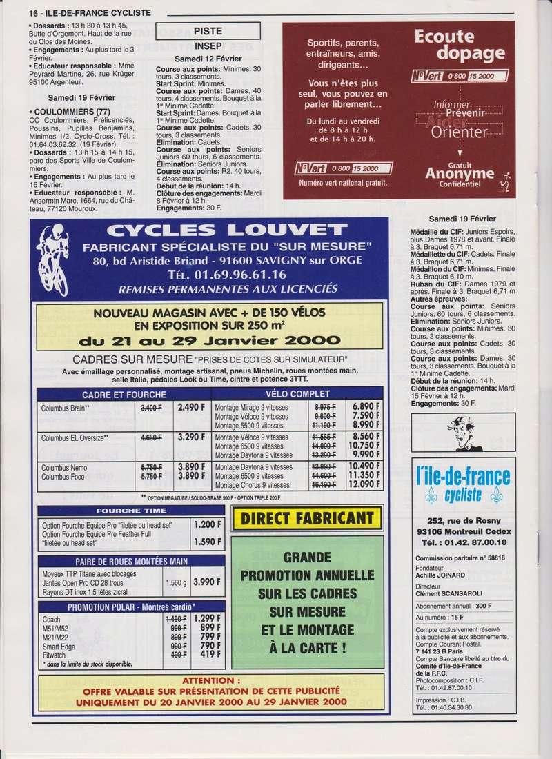 Coureurs et Clubs de janvier 2000 à juillet 2004 01633