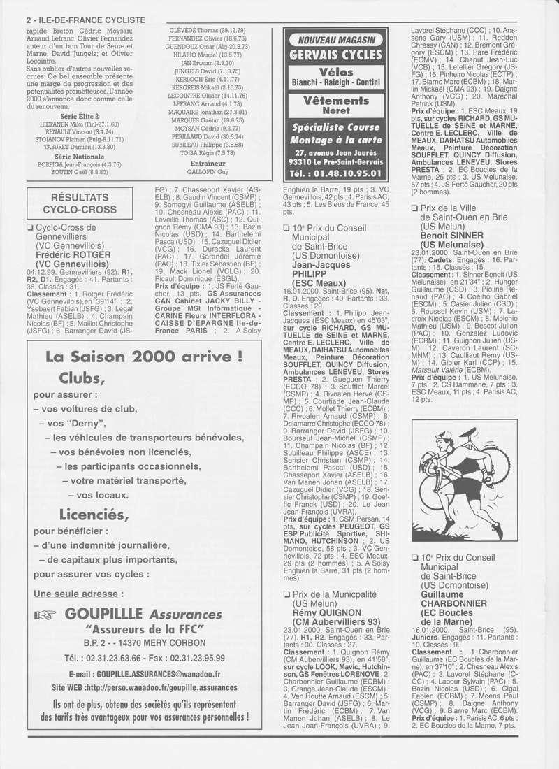 Coureurs et Clubs de janvier 2000 à juillet 2004 0_00216