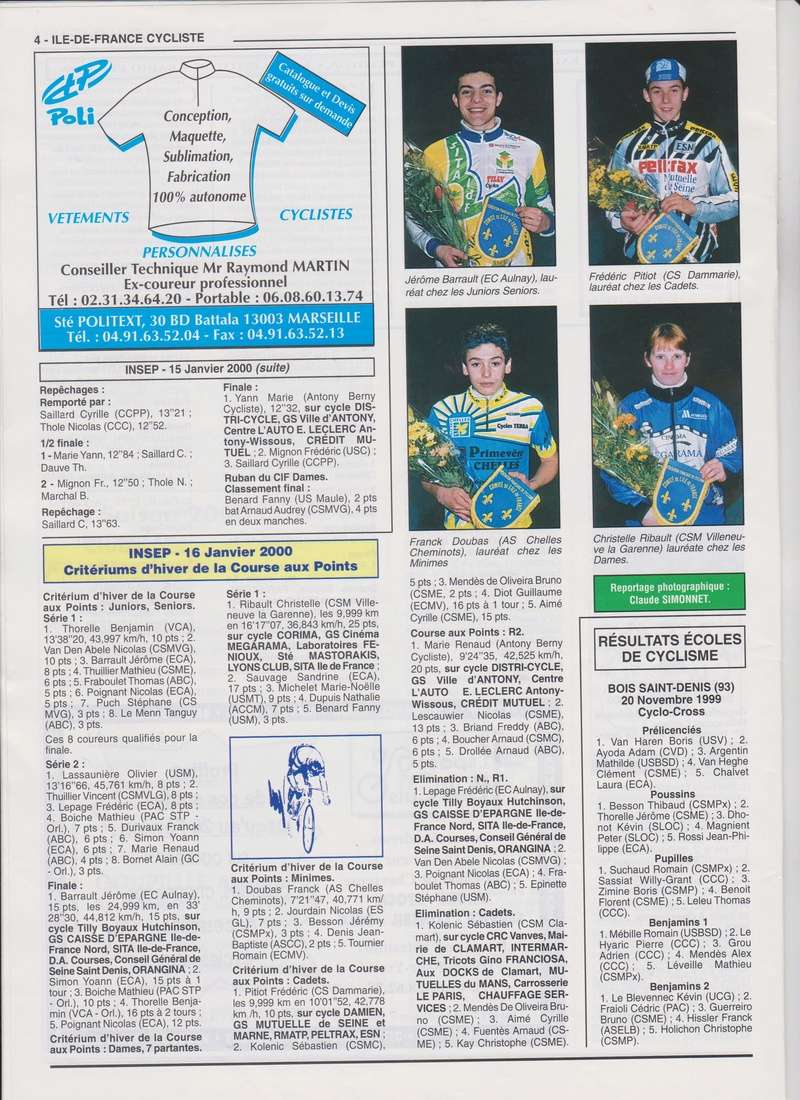 Coureurs et Clubs de janvier 2000 à juillet 2004 0_00416