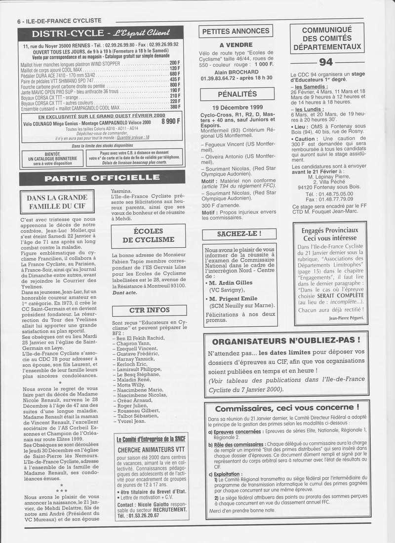 Coureurs et Clubs de janvier 2000 à juillet 2004 0_00616