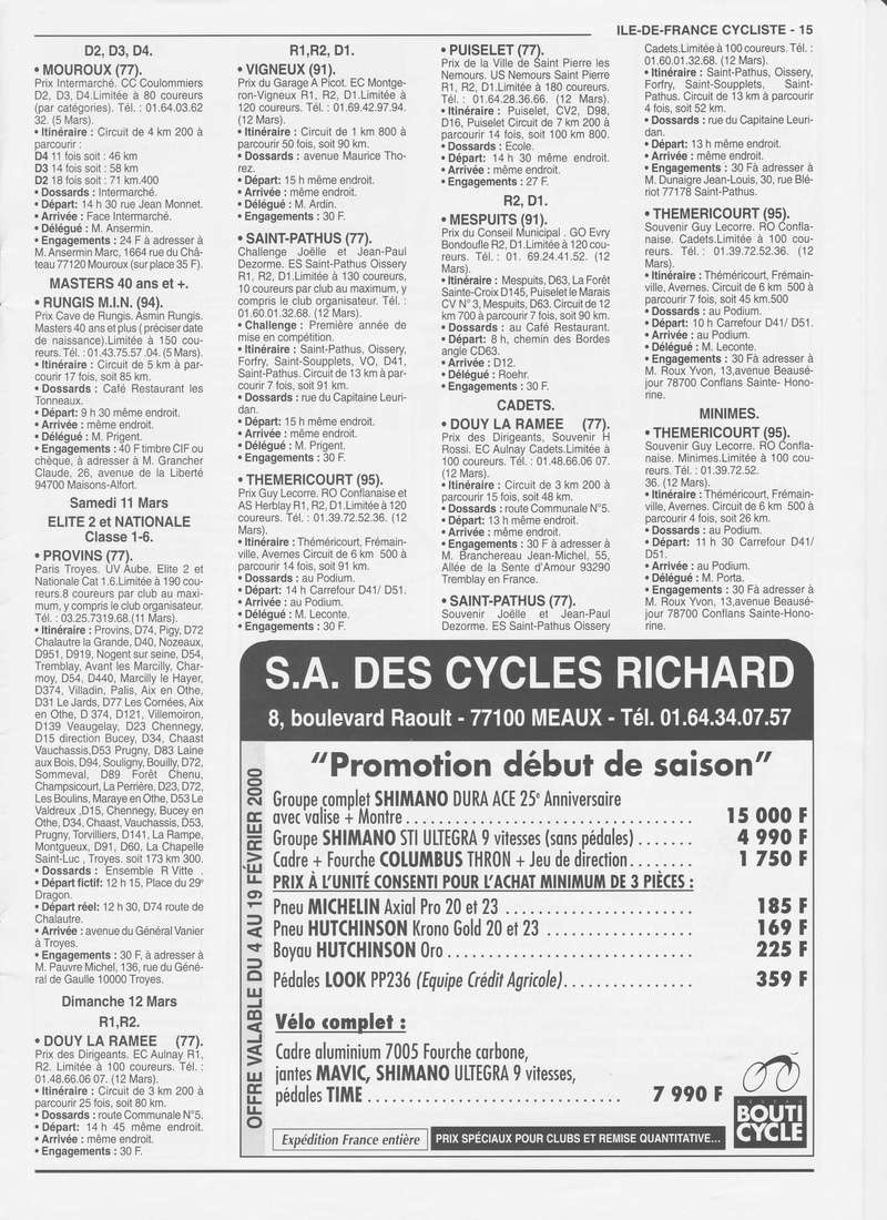 Coureurs et Clubs de janvier 2000 à juillet 2004 0_01513