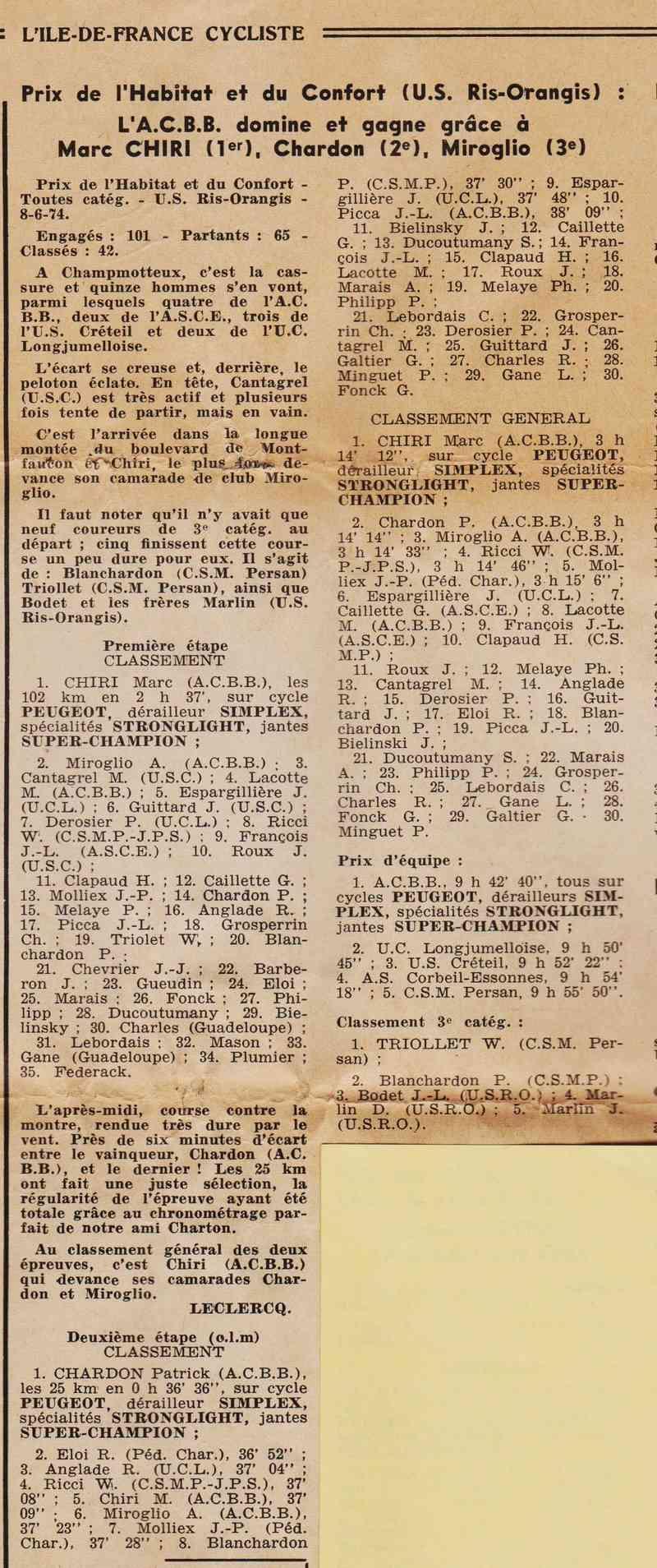 Coureurs et Clubs de juin 1974 à mars 1977 1974_014