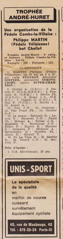 Coureurs et Clubs de juin 1974 à mars 1977 1974_028