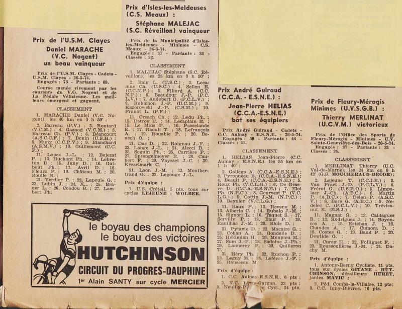 Coureurs et Clubs de juin 1974 à mars 1977 1974_030