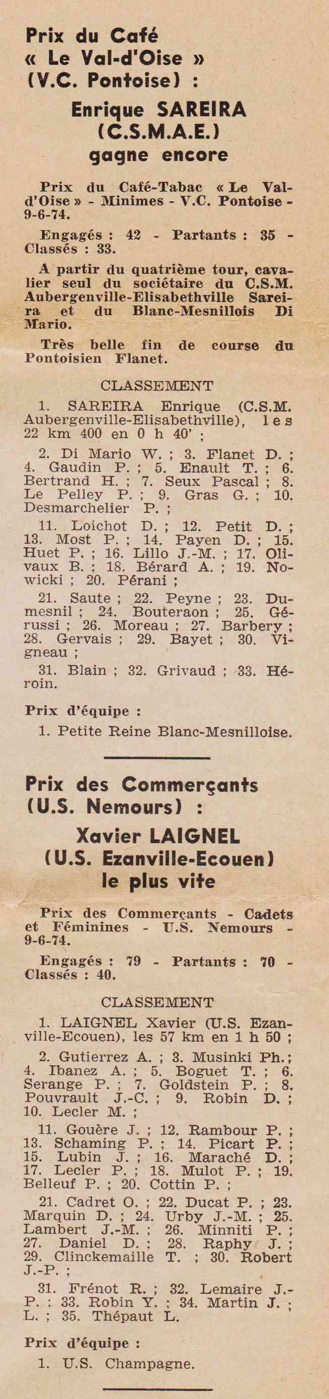 Coureurs et Clubs de juin 1974 à mars 1977 1974_032