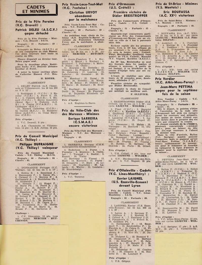 Coureurs et Clubs de juin 1974 à mars 1977 1974_033