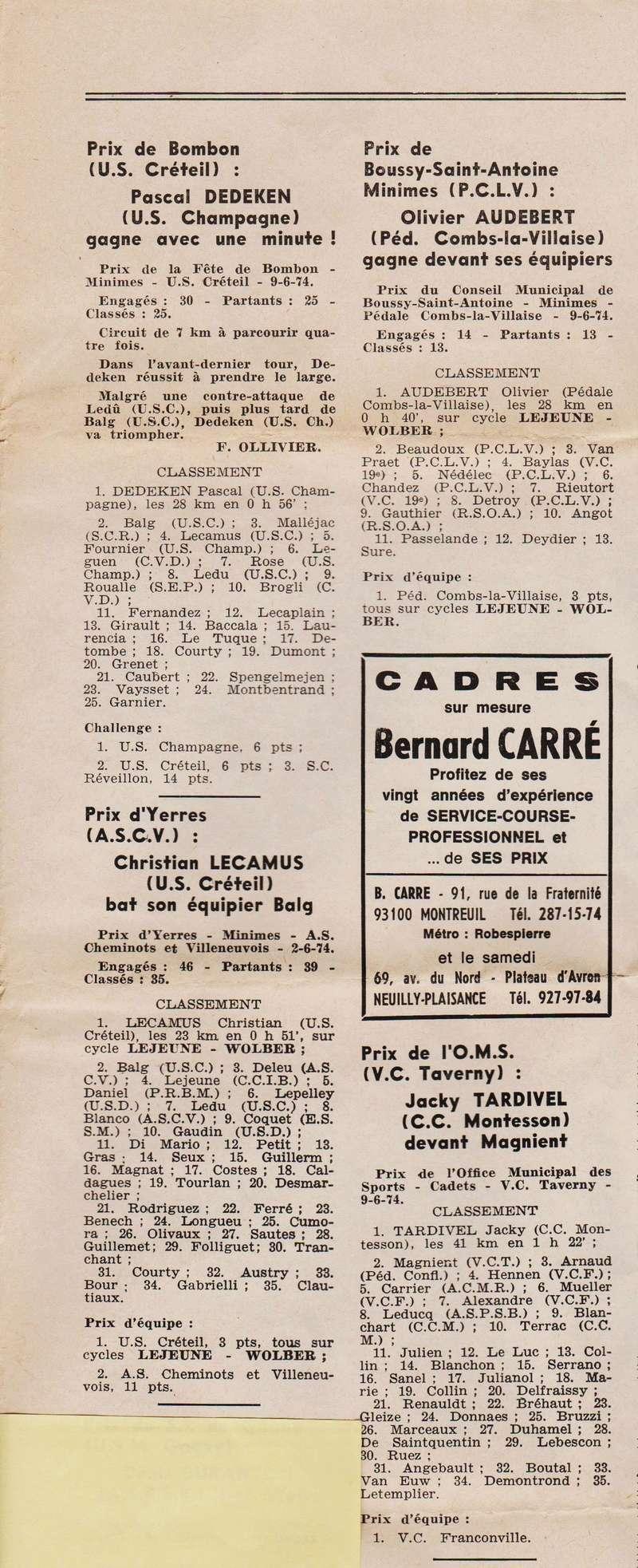 Coureurs et Clubs de juin 1974 à mars 1977 1974_036