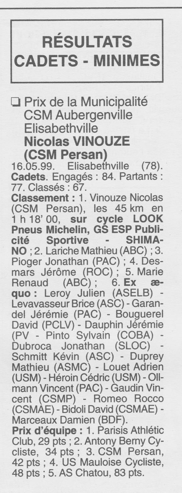 CSM.Persan. BIC. Toute une époque de janvier 1990 à novembre 2007 - Page 27 1999_030