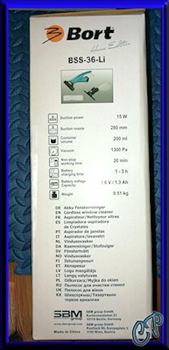 Bort BSS 36-Li Akku Fensterreiniger Fenstersauger Verpac10