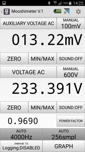 Mesures électriques sur ma borne Schneider 7 kW et mon Flexichargeur Screen15