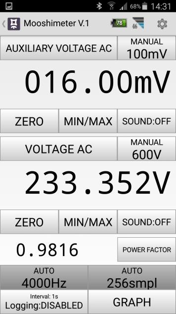 Mesures électriques sur ma borne Schneider 7 kW et mon Flexichargeur Screen19