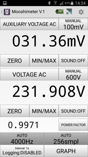 Mesures électriques sur ma borne Schneider 7 kW et mon Flexichargeur Screen20