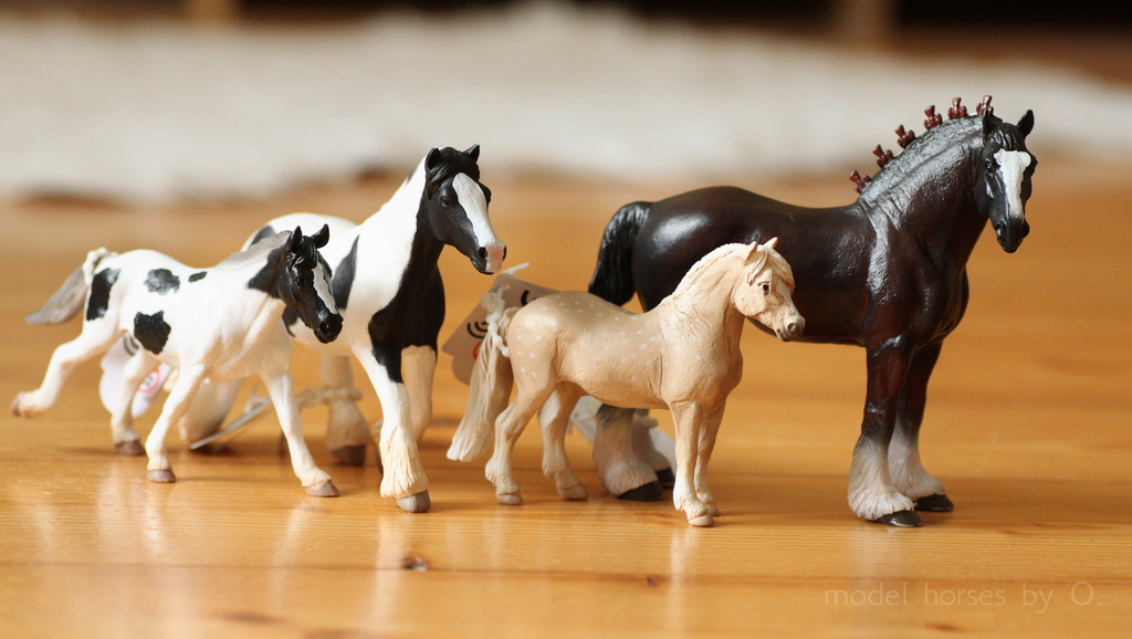 Arabian mare in foal (repainted) and other horses by Anna Mojo_f11