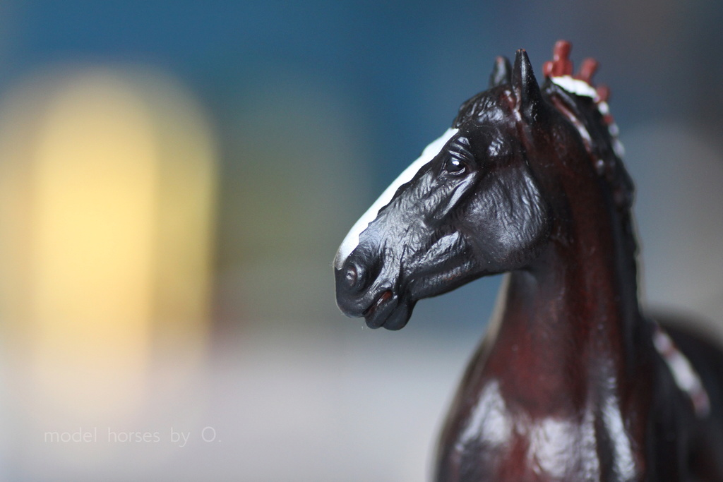 Arabian mare in foal (repainted) and other horses by Anna Mojo_f15