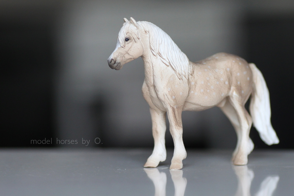 Arabian mare in foal (repainted) and other horses by Anna Mojo_w12