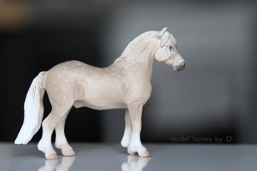 Arabian mare in foal (repainted) and other horses by Anna Mojo_w13