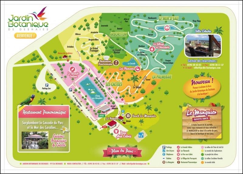 Jardin botanique de Deshaies Plan-j10