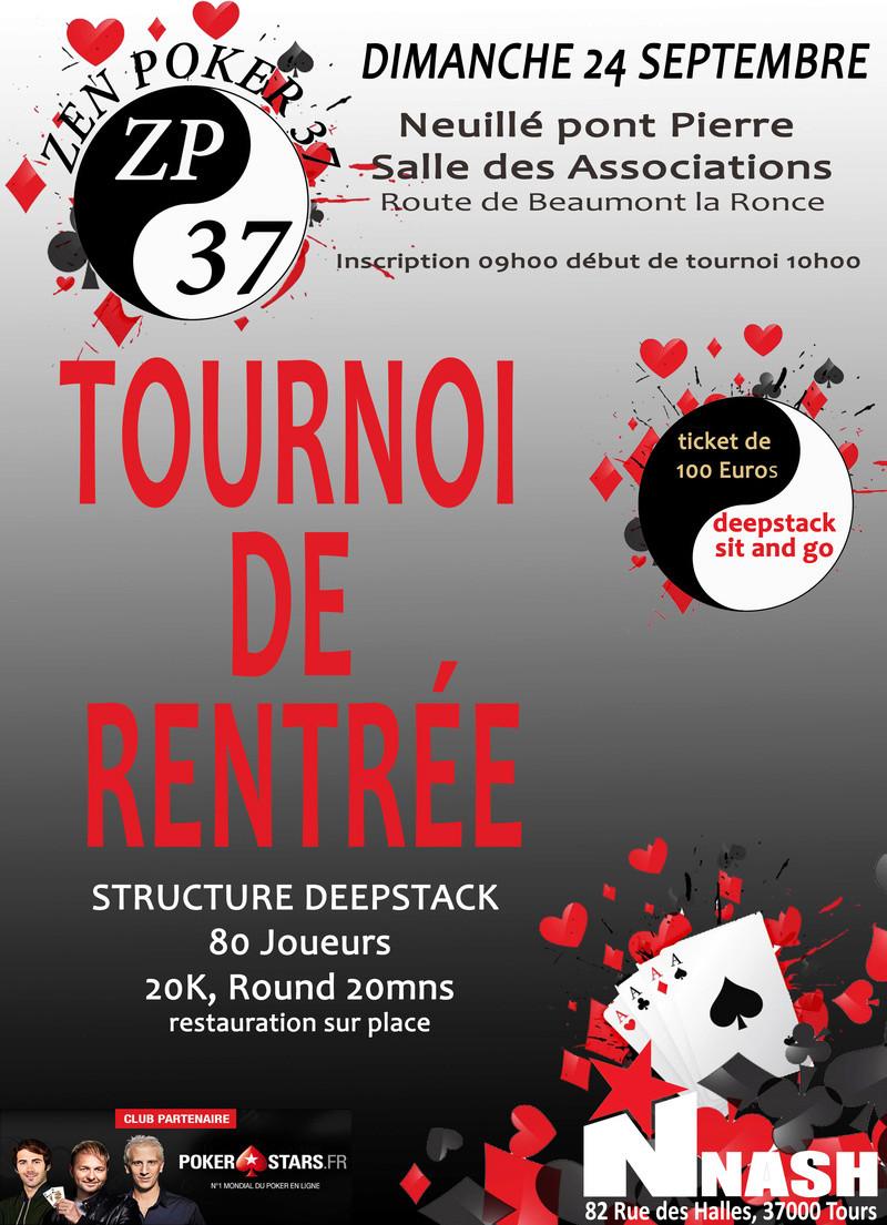 tournoi de rentrée du ZEN POKER 37, dimanche 24 septembre Tourno11