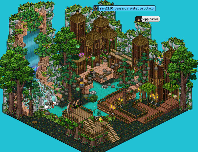 [IT] Evento HabboTravel vs Fobie | Game Acrofobia #4 Sassi10
