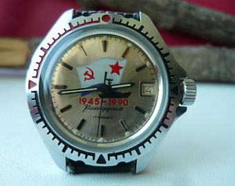 Les montres soviétiques commémoratives de la victoire  Vostok18