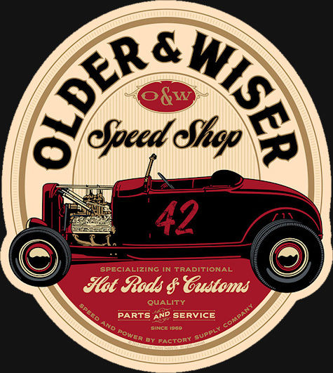 {OMT'S} OLDER AND WISER SPEED SHOP Owss-t11