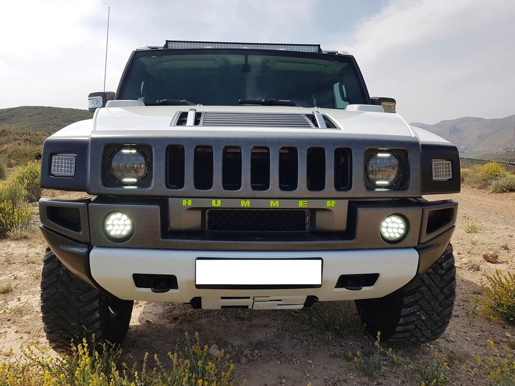 Mon HUMMER H2 2009 White / Carbone bodybuildé 20170510