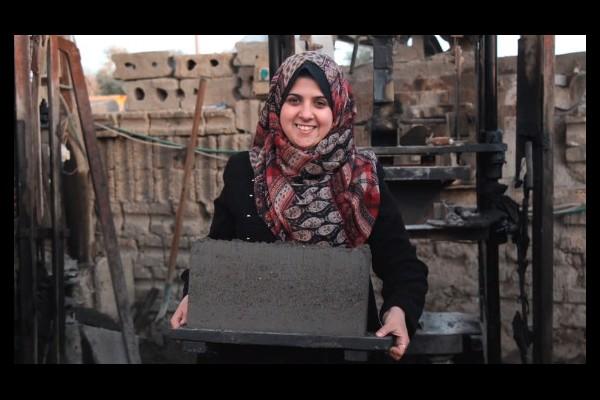 En Palestine, cette jeune ingénieure reconstruit Gaza avec des parpaings écologiques  Sans_249