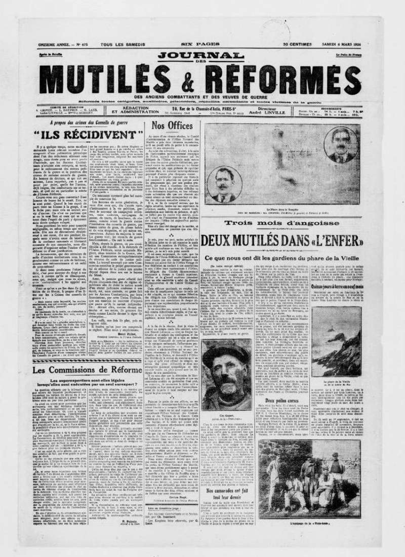 Naufrage de « la Surprise » dans la nuit du 18 au 19 février 1926  Journal de Paimpol du samedi 20 février 1926  Sans_435