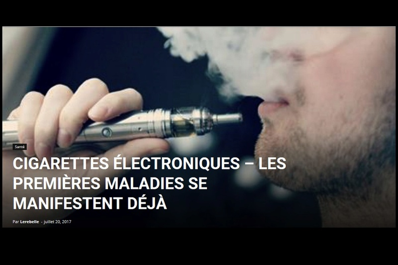 Cigarettes électroniques – Les premières maladies se manifestent déjà Sans_505