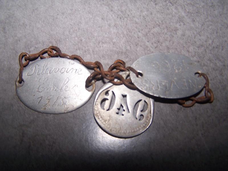 Bracelet a vec deux plaques d'identité 2eme Groupe d'aviation 1915 102_9024