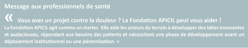Fondation Apicil : 1000 projets contre la douleur Apicil13