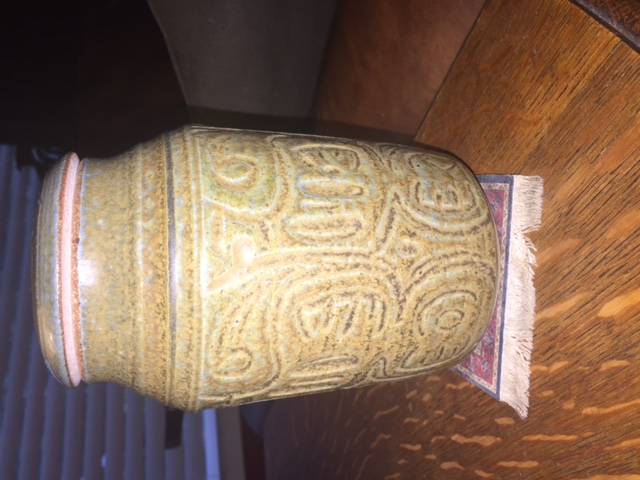 Lidded Ginger Jar Signed Tribal Motif? Jar110