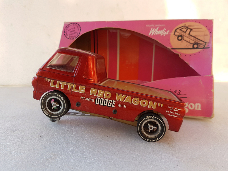 Slot car dragster 1960's BZ Dodge Little Red Wagon. 116