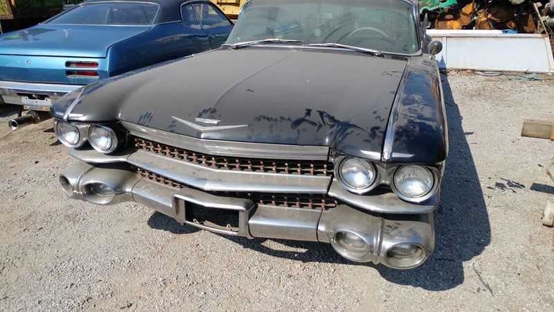 Incroyable Cadillac 1959 corbillard trouvée en Grece - Amazing 1959 Cadillac Hearse recently uncovered in Greece 1959_c10